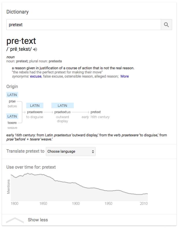 pretext