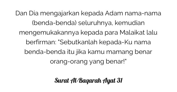Surat Al-Baqarah Ayat 31