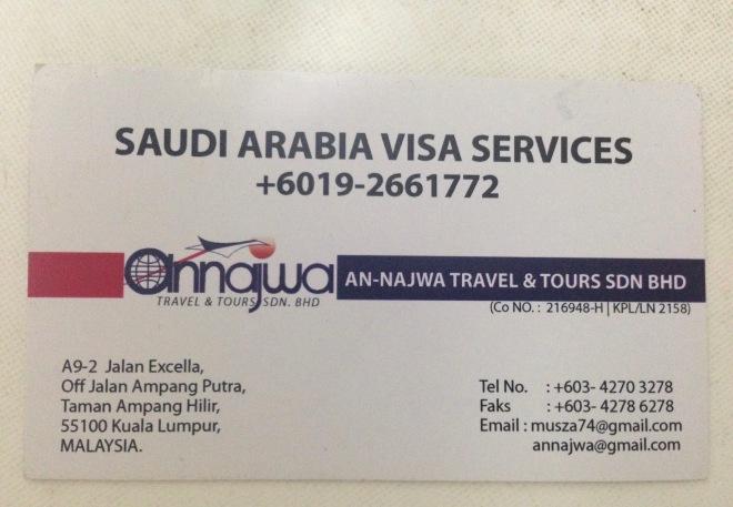 An-Najwa Travel & Tours Sdn Bhd