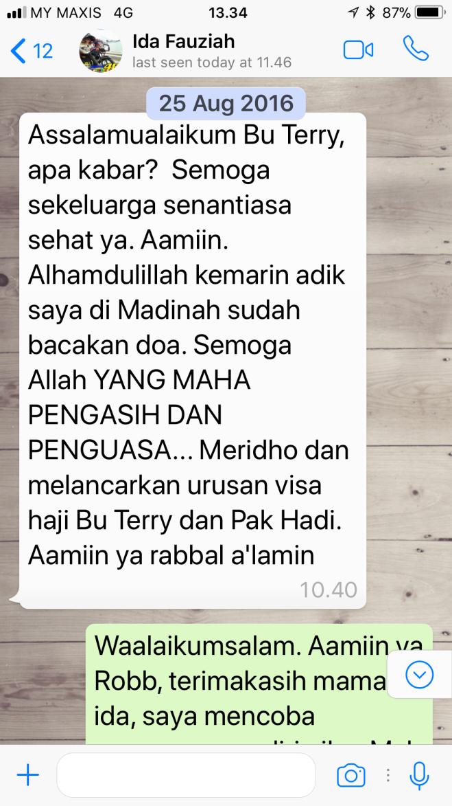 WhatsApp dari ibu Ida