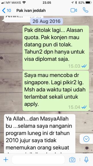 Whatsapp dari Pak Ivan